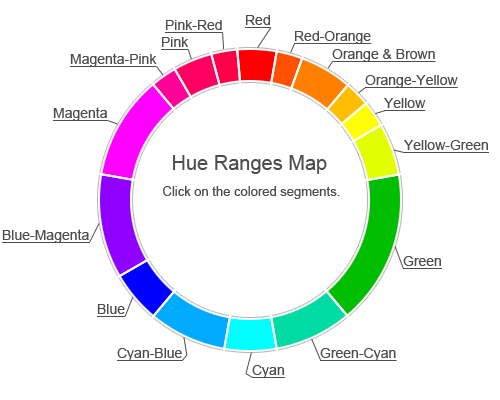 Pink Color Hue Range Name List Of Colors HEX RGB HSL